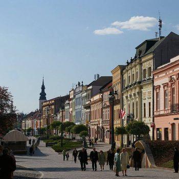Prešov Hlavná ulica pešia zóna
