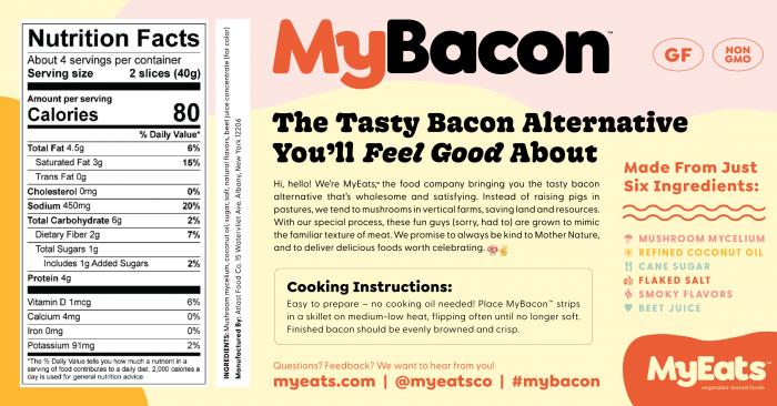 Nutričné hodnoty MyBacon